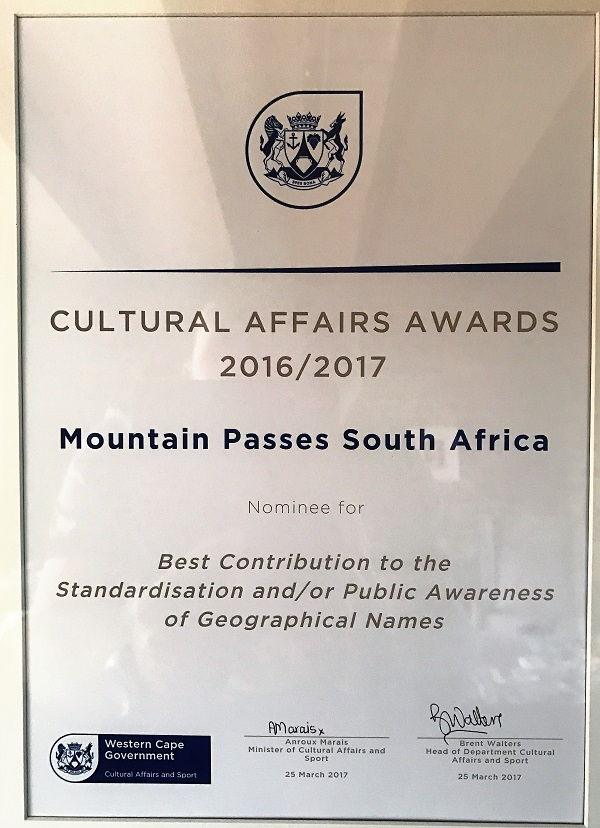 Award by WCape Government