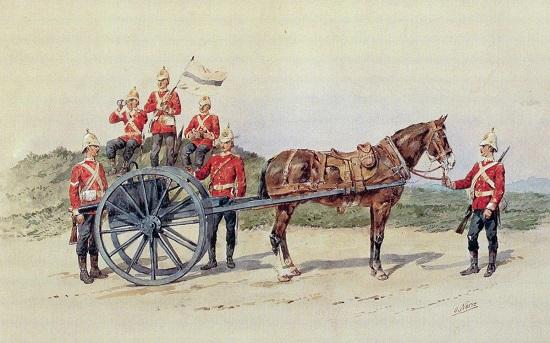British gun battery