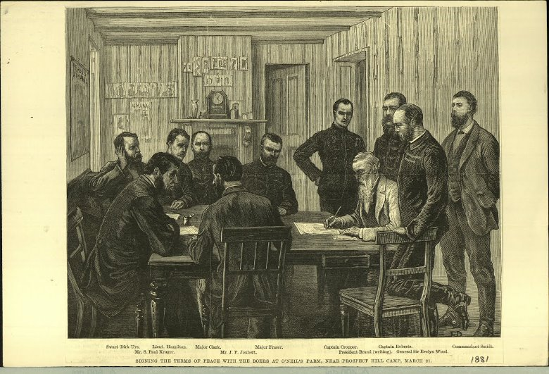 Signing of  the peace treaty in 1881