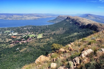 Magaliesberg with the Hartbeespoort Dam in the background