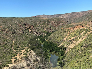 View over the Kouga River valley from the pass