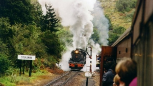 Steam train at the pass circa 1998
