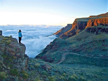 The views from the top of Sani Pass are huge