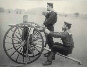 Naval machine gunners at Modderfontein