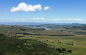 Views from the trail with the Zaaihoek Dam in the background