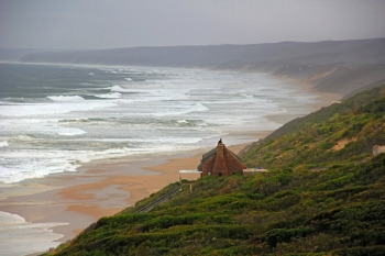 The magical coastline at the Blombosstrand beach