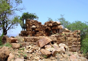 Ruins of the blockhouse at Kommando Nek
