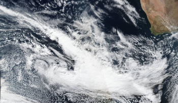 Satellite image of frontal system