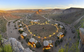 The Dwyka tented Lodge in Sanbona Wildlife Reserve